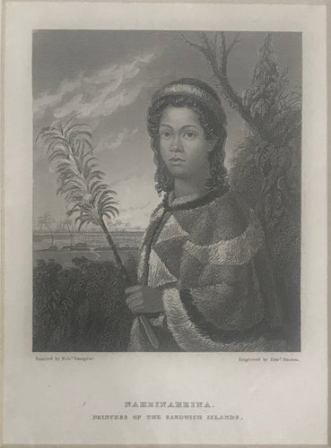 'Naheinaheina, Princess Of The Sandwich Islands' 1826 Original Aquatint Engraving