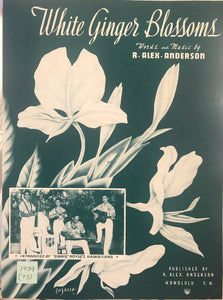 Hawaiian Sheet Music: 'White Ginger Blossoms'