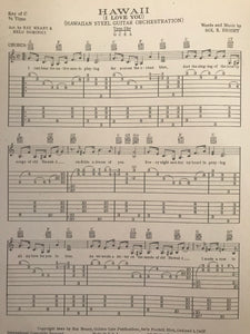 Hawaiian Sheet Music: 'Hawaii I Love You'