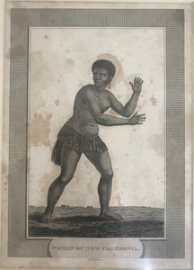 Woman Of New Caledonia 18th Century Engraving