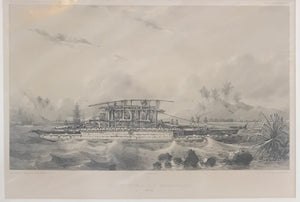 Pirogue Double Des Missionnaires, 1830's Tongan Canoe Lithograph