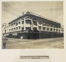 1941 Vintage Photograph Of The Corner Of Fort & Hotel St Honolulu Hawaii