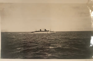 Vintage Photograph Of Matson Ship In Honolulu Waters
