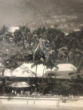 Vintage 1950's Ariel Photo Of The Halekulani Hotel From Waikiki Beach