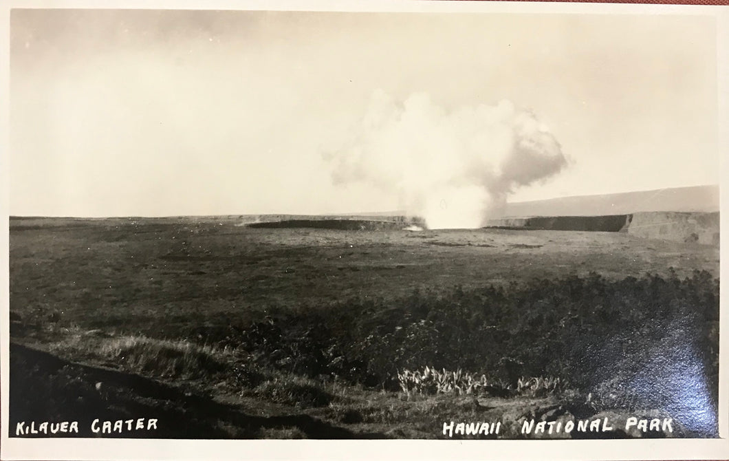 1920's Real Photo Post Card Of  Kilauea Crater Volcano  Hawaii
