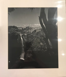 1930's Vintage Photograph By Weston Of A Waterfall In Hawaii