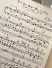 Hawaiian Sheet Music: 'Aloha, Kuu Ipo, Aloha' (Goodbye, Sweetheart, Goodbye)