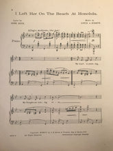 Hawaiian Sheet Music: 'I Left Her On The Beach At Honolulu'