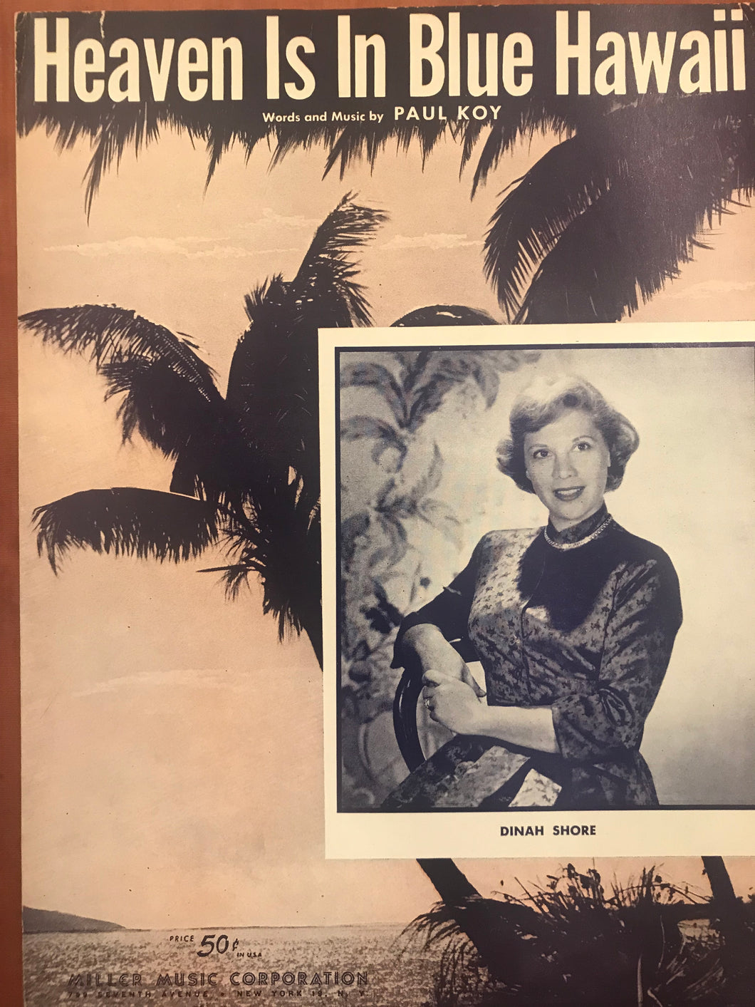 Hawaiian Sheet Music: 'Heaven Is In Blue Hawaii'