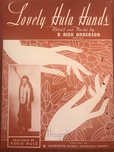 Hawaiian Sheet Music: 'Lovely Hula Hands'