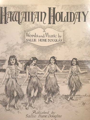 Hawaiian Sheet Music: 'Hawaiian Holiday'
