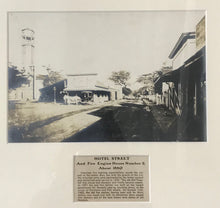 1880 Vintage Photograph Of Hotel St. & Fire Engine House No. 2 Honolulu Hawaii