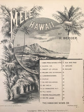 Hawaiian Sheet Music: 'Mele Hawaii: Mahina Malamalama'