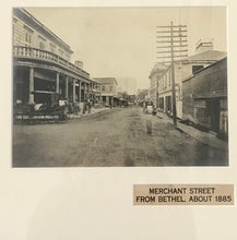 1885 Vintage Photograph Of Merchant Street From Bethel Honolulu Hawaii