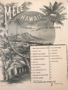 Hawaiian Sheet Music: 'Mele Hawaii: Sweet Lei Lehua'