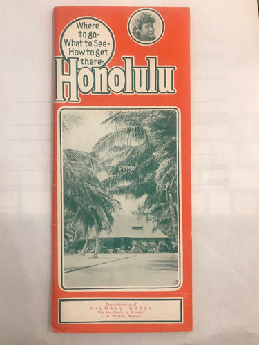 1935 Brochure: Honolulu Where To Go What To See How To Get There Matson