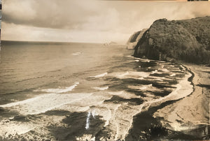 1950's Vintage Photograph Of Pololu Valley, Big Island Hawaii