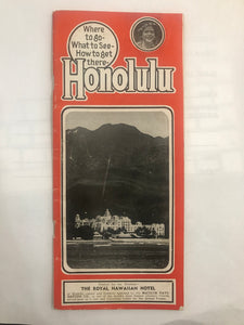 1944 Brochure: Honolulu Where To Go What To See How To Get There Matson