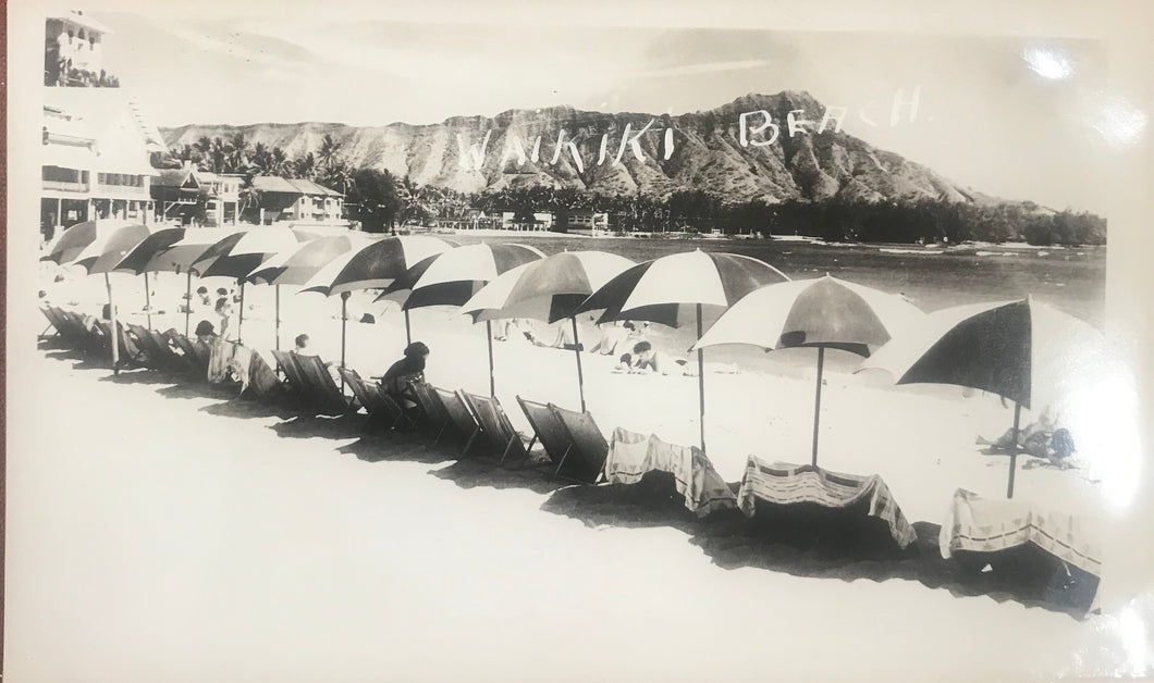 Vintage Photograph Of Diamond Head And Waikiki, Honolulu Hawaii