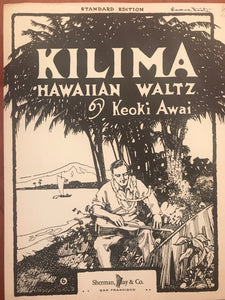 Hawaiian Sheet Music: 'Kilima'