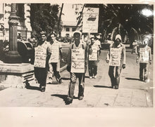 1938 Vintage Press Photograph Of Picketers In Hawaii