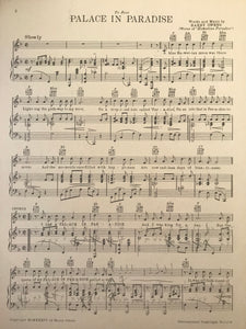 Hawaiian Sheet Music: 'Palace In Paradise'