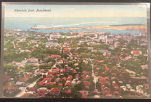 Vintage Postcard Honolulu From Punchbowl