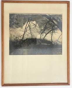 1920's Silver Print Photo By Gurrey 'The Cloud', Signed, Kaneohe Hawaii