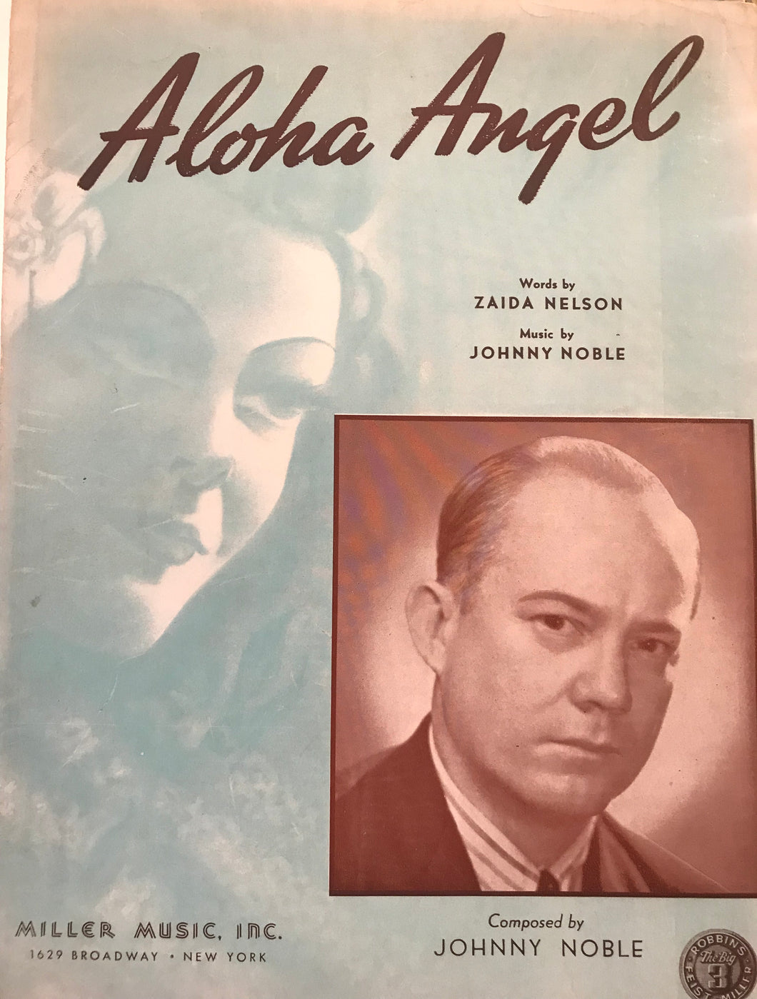 Hawaiian Sheet Music: 'Aloha Angel'