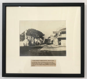1875 Vintage Photograph Of Fort Street From Hotel St. Honolulu Hawaii