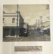 1941 Vintage Photograph Of Nuuanu Ave From Queen St Honolulu Hawaii