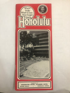 1953 Brochure: Honolulu Where To Go What To See How To Get There Matson