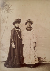 Honolulu Ladies    Albumen Photo (circa 1880's)