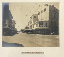 1940 Vintage Photograph Of King Street From Fort Honolulu Hawaii