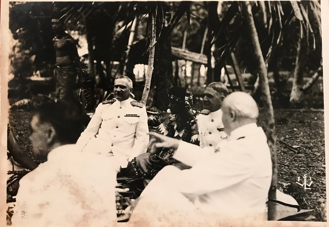 1925 Vintage Photograph Of navy Officers In Samoa