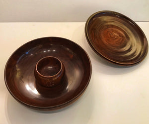 Rare 19th Century Kou With Lid Poi Container, Bowl