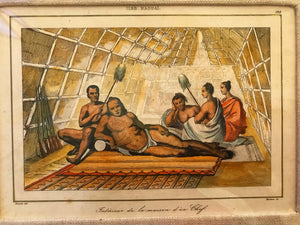 18th Century Handcolored Engraving 'ISLES HAOUAI'