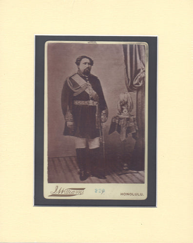 King Kamehameha Cabinet Card Williams
