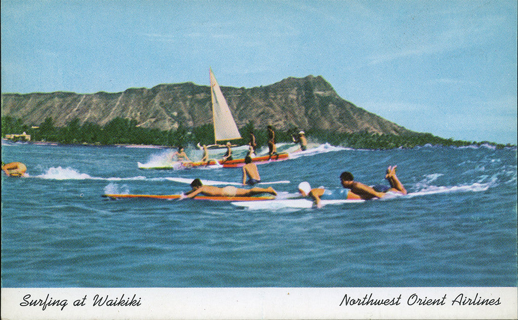 Surfing postcard061