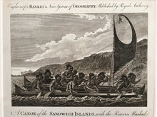 18th Century Original Engraving 'A CANOE'