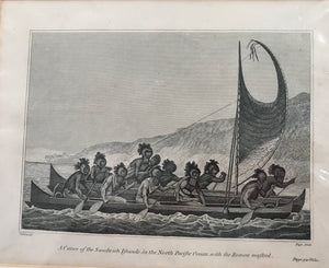 18th Century Engraving 'ROWERS MASKED'