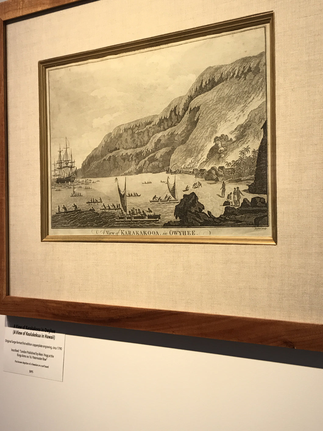 1790 'A VIEW OF KARAKAKOOA IN OWYHEE' (A View of Kealakekua in Hawaii)