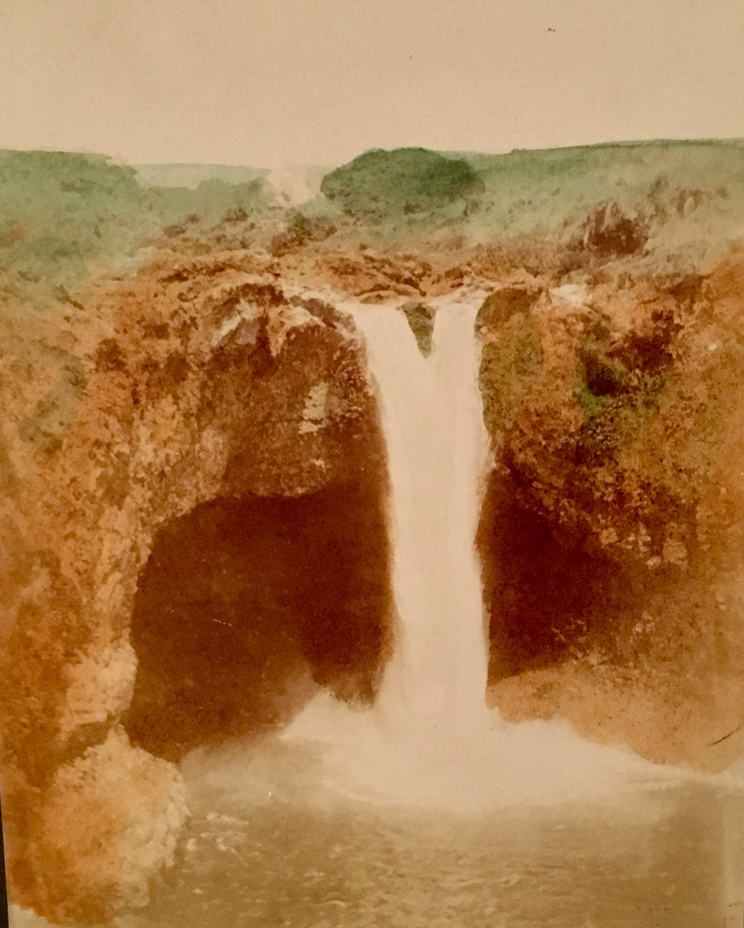 Rainbow Falls Hand-colored by Davey
