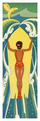 1930's Surfer Girl Poster by Ruth Taylor White (11.5 x 34.25) - 2.75sqft