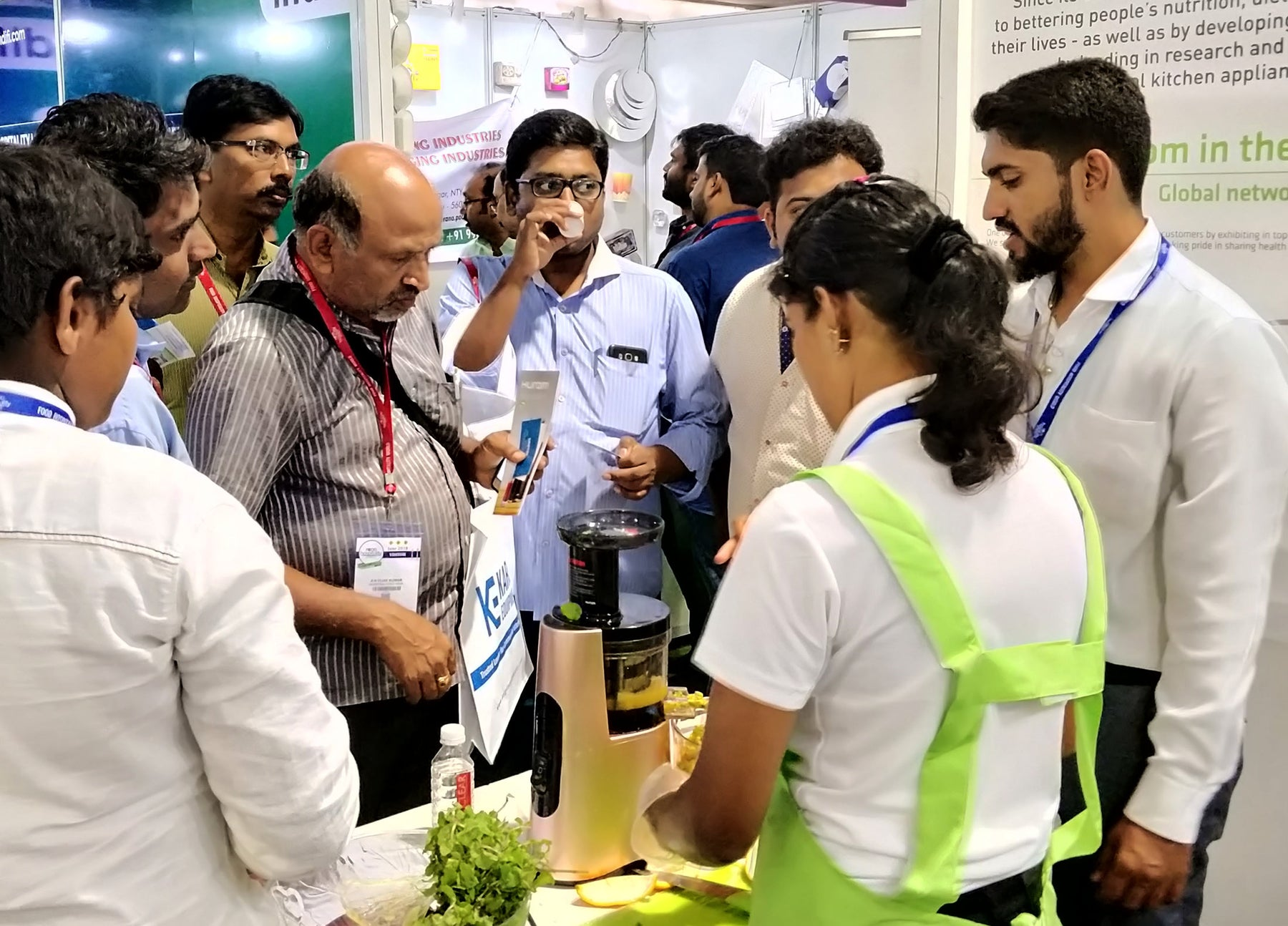 Hurom India participated in Food and Hospitality World Expo 2018, Bengaluru