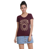 Womens Graphic T-Shirt: Aztec Monkey