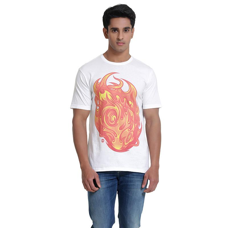 Mens Printed T-Shirt: Fire