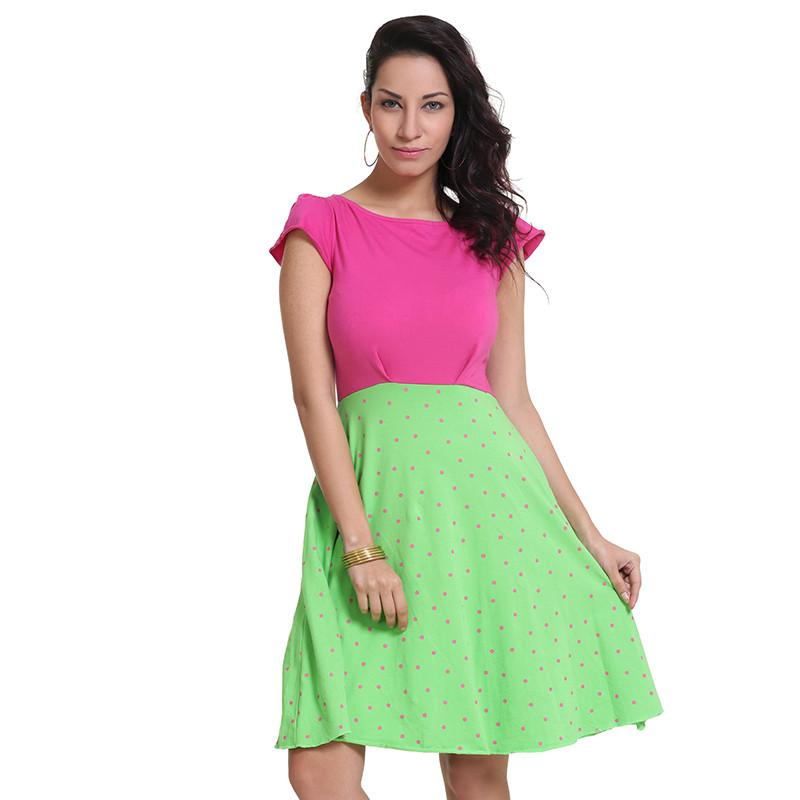 Mulberry And Bud Green Flare Dress