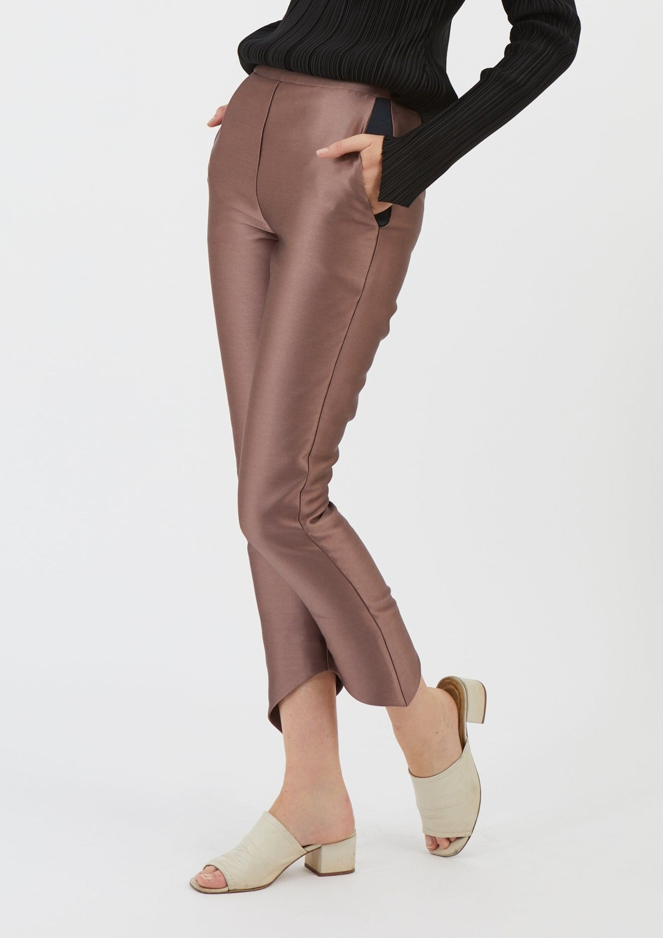 Pantalon Ninou - Satin Rose - Pantalon