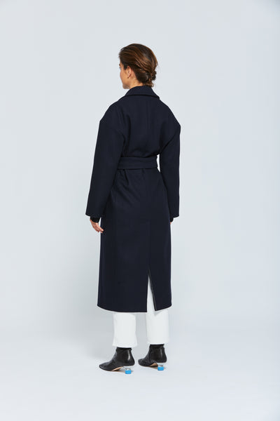 MANTEAU CEINTURE VIRGINIA-NAVY